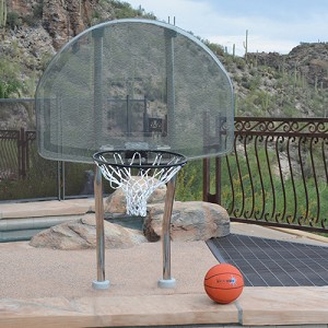Inter-Fab Basketball On Deck Mount Light Gray Complete