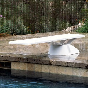 Inter-Fab 6' and 8' Edge Fiberglass Diving Base White w/mounting hardware and no jig