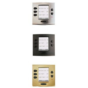 Jandy OneTouch Faceplate Kit Chrome Polished with Black Buttons
