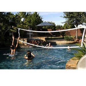 S.R. Smith Salt Pool Friendly Volleyball Game Complete 20' Net (with Anchors)