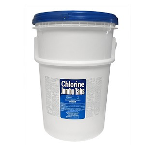 "50lb Bucket 3"" Stabilized Chlorine Tablets (Wrapped)"