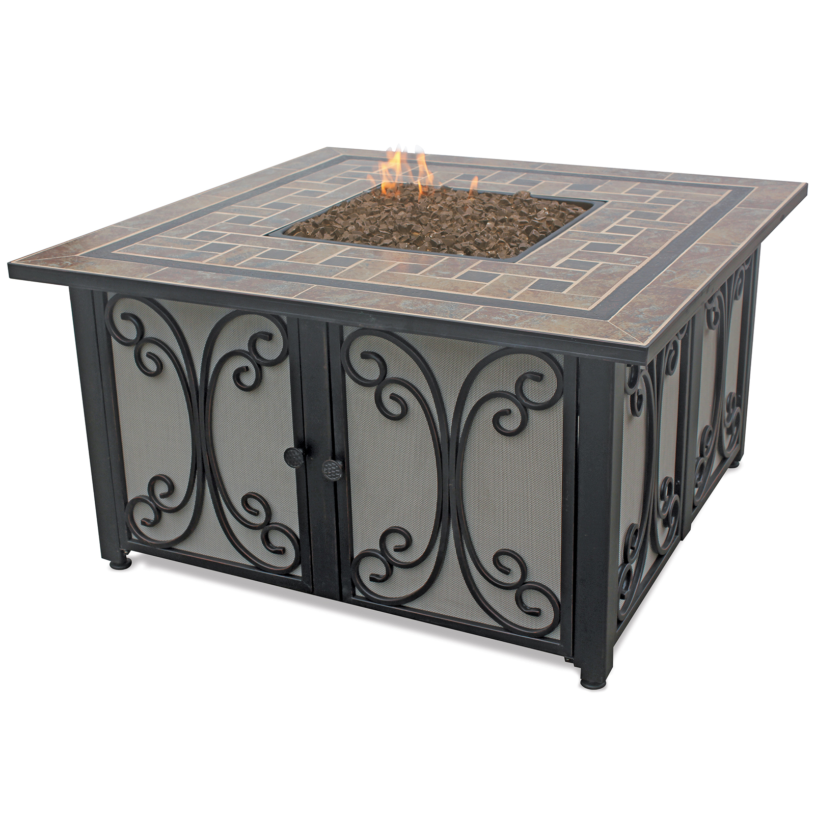 Endless Summer Outdoor Fire Table Lp Gas With Slate Tile