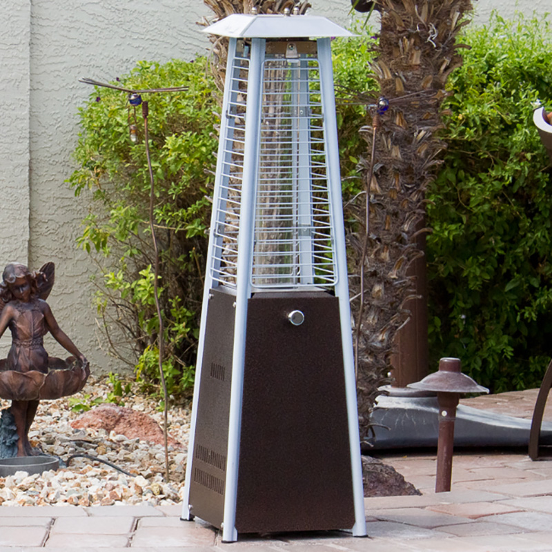 Az Patio Heaters Glass Tube Table Top Patio Heater In