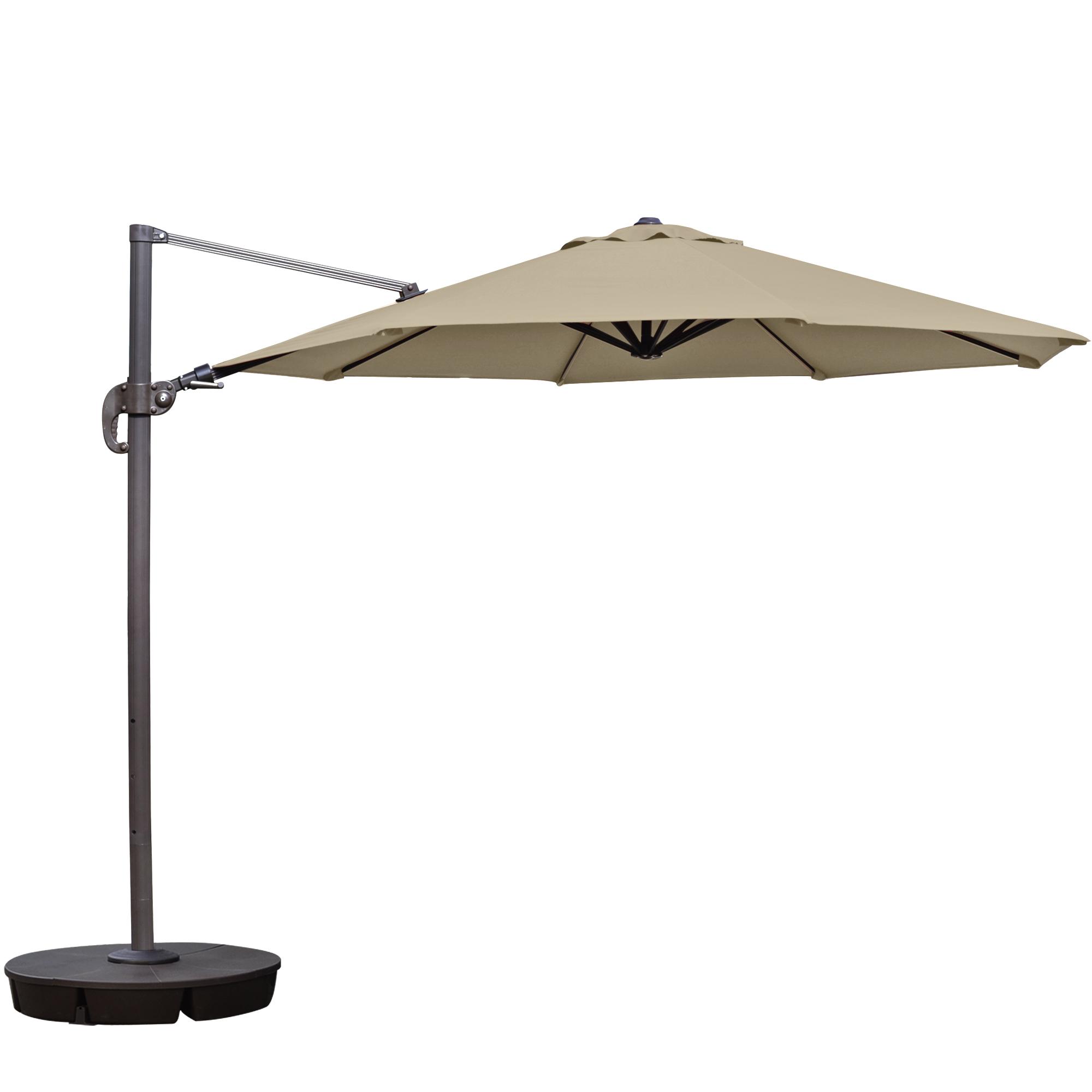 Home Grill Patio Umbrellas Island Umbrella Freeport 11 Ft Octagonal Cantilever In Beige Sunbrella Acrylic