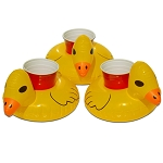 GoPong Duck Floating Drink Holder 3 Pack