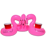 GoPong Flamingo Floating Drink Holder 3 Pack