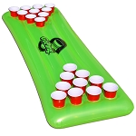 GoPong 6' Floating Neon Green Pool Beer Pong Table