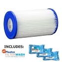 Pleatco Cartridge Filter PMS8 Muskin 8 Sears Haugh Products  195-8712 A3818 w/ 3x Filter Washes