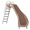 S.R. Smith 610-209-58110 Rogue2 Pool Slide, Right Curve, Taupe