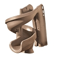 S.R. Smith 640-209-58110 Helix2 Pool Slide, Solid Taupe