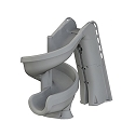 S.R. Smith 640-209-58120 Helix2 Pool Slide, Solid Gray