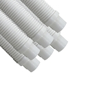 Puri Tech 6 Pack Universal Pool Cleaner Suction Hose 48 Inches Long White Color for Kreepy Krauly, Baracuda G3/G4, Navigator, & More Universal Fit 4' Feet Long