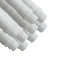 Puri Tech 9 Pack Universal Pool Cleaner Suction Hose 48 Inches Long White Color for Kreepy Krauly, Baracuda G3/G4, Navigator, & More Universal Fit 4' Feet Long