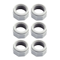 6 PK- Replacement Polaris Pentair Legend Cleaner 180 280 380 Feed Hose Nut D-15