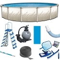 Puri Tech Bulldog 15 ft Round, 52 inch Deep, Above Ground Pool Kit