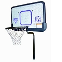 S.R. Smith SPBSK-100 Swim N Dunk Complete Single Post Basketball Game with In-Deck Anchors, 3-Box