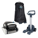 Dolphin Explorer E30 Robotic Pool Cleaner with Universal Caddy and Caddy Cover, Ideal for In-Ground Swimming Pools up to 50 Feet