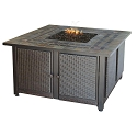 Endless Summer Outdoor Fire Table LP Gas with Slate Tile Mantel and Copper Accents