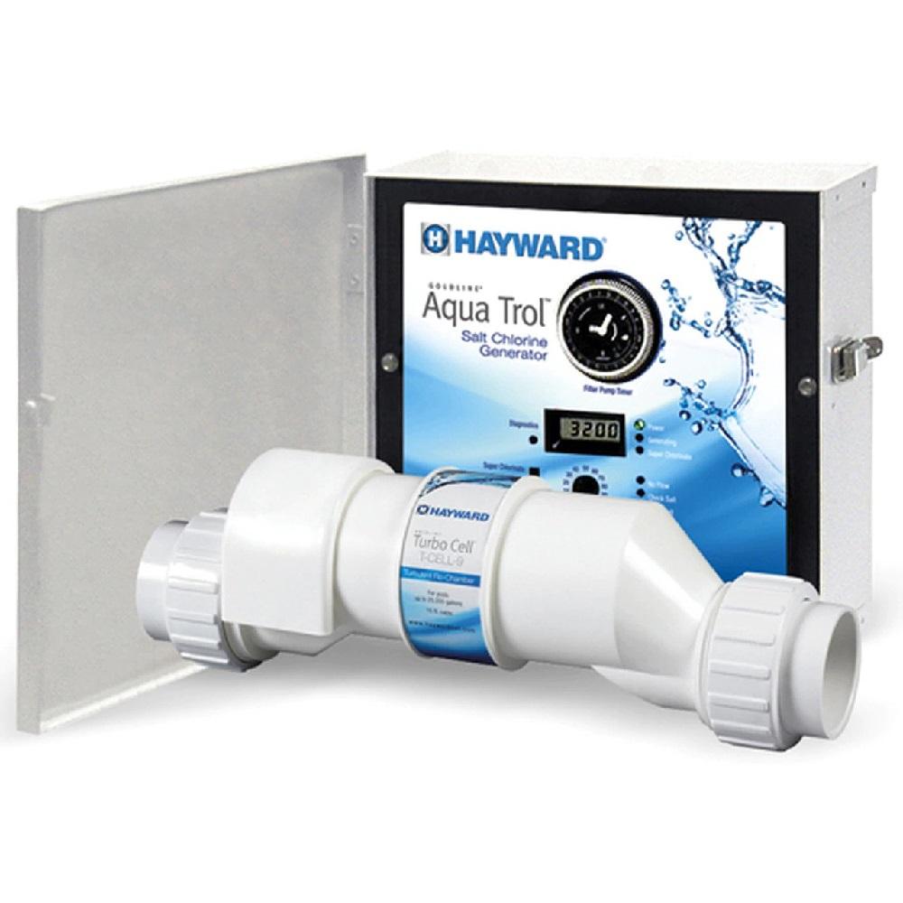 Hayward Aquatrol Salt Chlorinator Above Ground With Return Jet Twist Lock Cord 18k Gallon