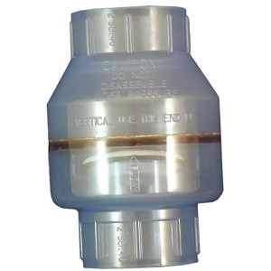 Swing Check Valve PVC Clear 1.5'' Slip x Slip
