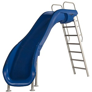 S.R. Smith 610-209-5823 Rogue2 Pool Slide, Left Curve, Blue
