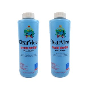 2 Pack Clearview Super Blue Water Pool Clarifier 1 qt