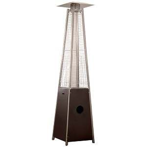 AZ Patio Heaters Glass Tube Patio Heater in Hammered Bronze