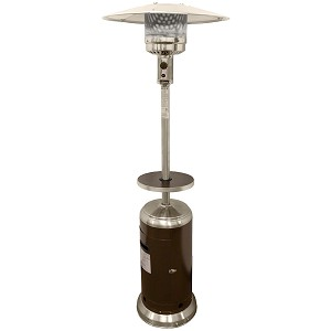 AZ Patio Heaters Outdoor Two-Toned Patio Heater in Stainless Steel and Hammered Bronze