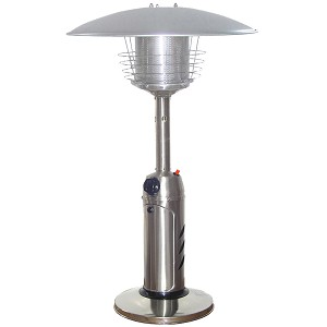 AZ Patio Heaters Table Top Patio Heater in Stainless Steel
