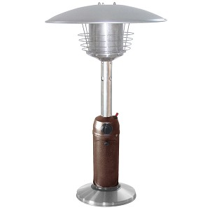 AZ Patio Heaters Table Top Patio Heater in Stainless Steel and Hammered Bronze