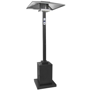 AZ Patio Heaters Outdoor Commercial Square Patio Heater in Black