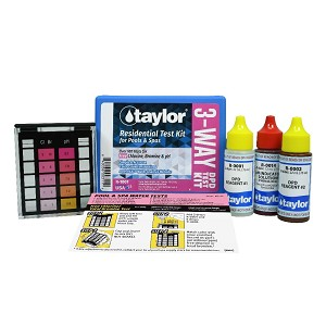 Taylor Technologies 3-Way Test Kit for Free Chlorine, Bromine, pH - .75 oz bottles