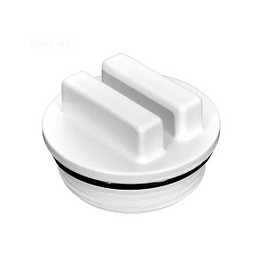 "Winterizing 1 1/2"" Threaded PVC Plug with O-Ring"
