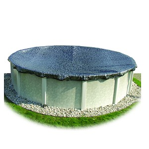 Hinsperger Enviro Mesh 15' x 30' Oval Pool Mesh Winter Cover 3' Overlap 8yr Wty - Silver/Black