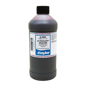 Taylor Technologies pH Indicator Solution, for 2000 Series, Phenol Red - 16 oz